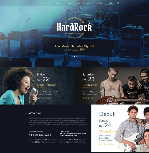 hard rock joomla blog template