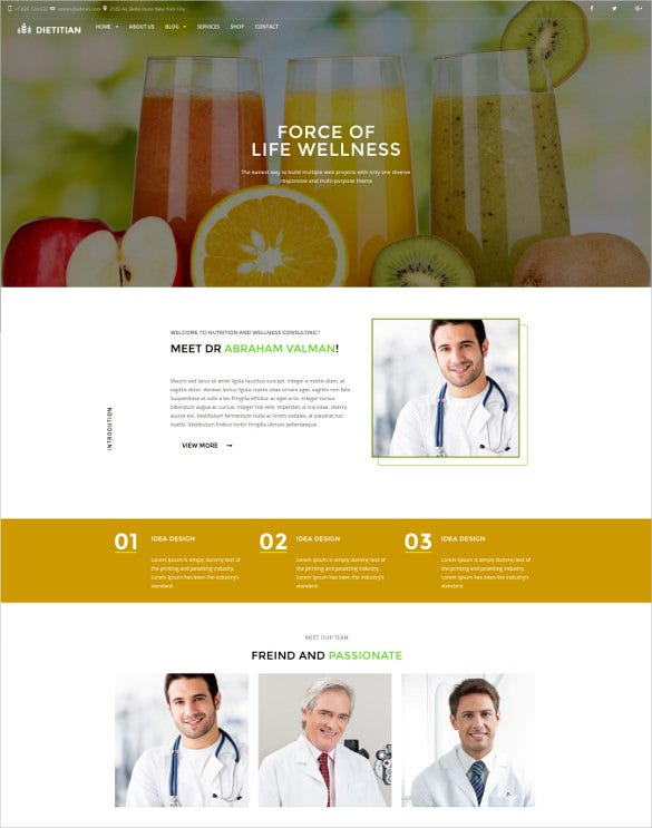 dietitian nutrition health professionals wordpress blog theme