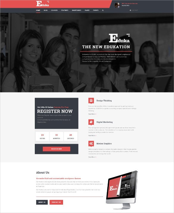eduka education university wordpress blog theme