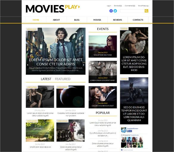 fashion cinema wordpress blog theme