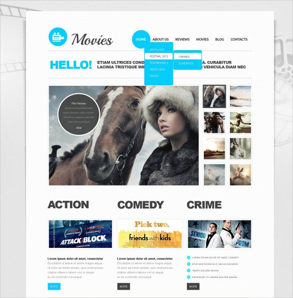 movie joomla blog template