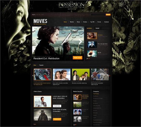 internet cinema database drupal blog template