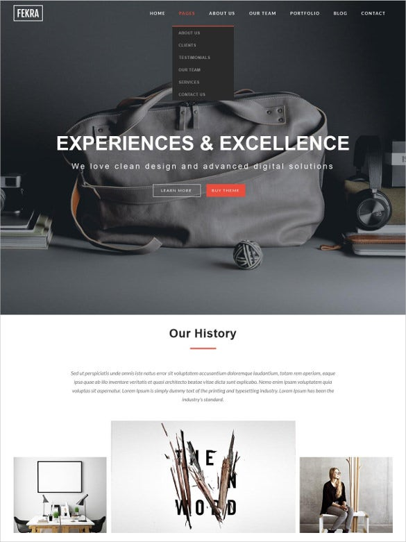 fekra elegant multipurpose muse blog template