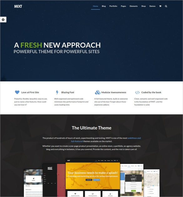 mixt powerful multi purpose blog theme