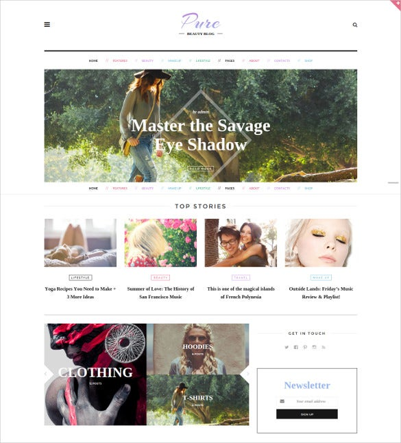 pure lifestyle blog wordpress theme1