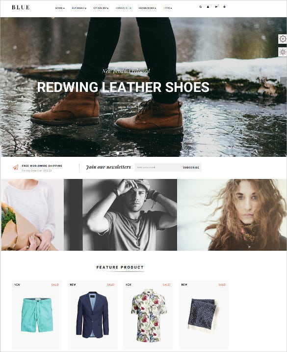 leo blue responsive prestashop blog theme