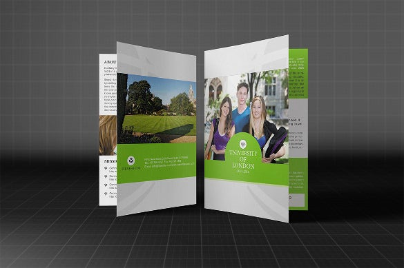 bifold college brochure template