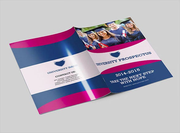 14 pages college brochure template