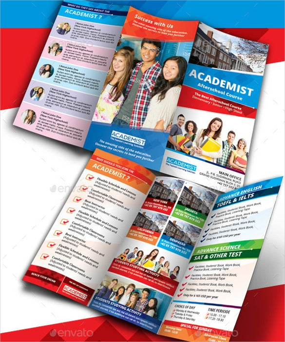 best tri fold academic education brochure
