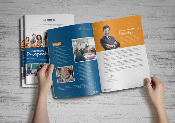 editable college brochure template