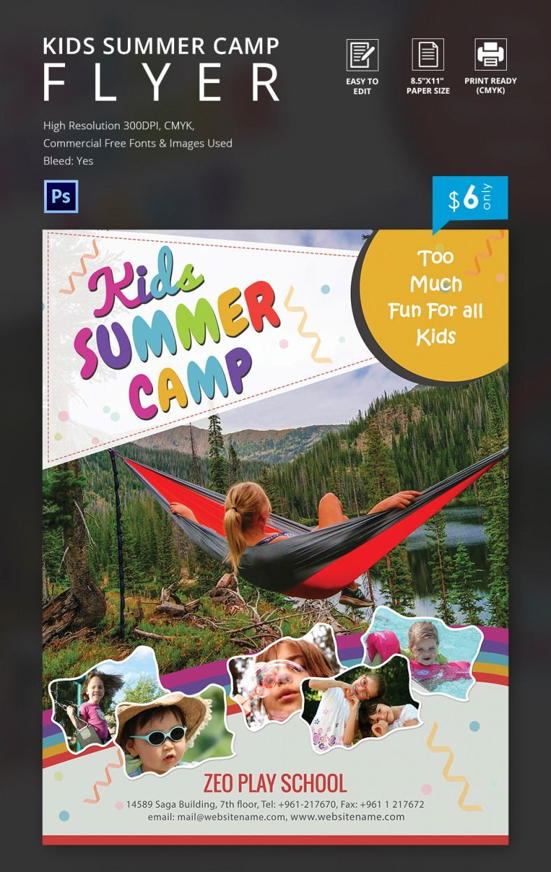 summer camp flyer jpg psd esi indesign kids school summer camp flyer template