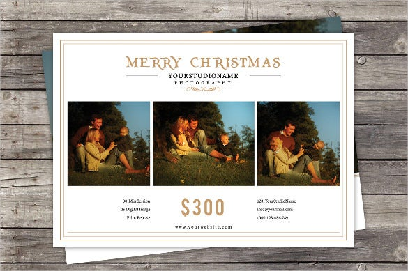 christmas price menu template