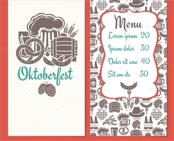 festival price menu template