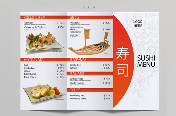 restaurant price menu template