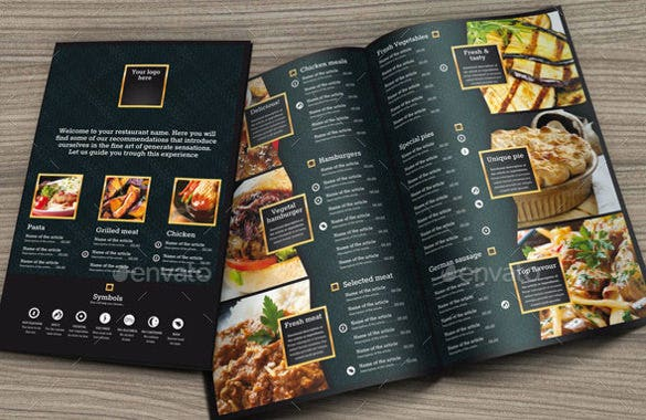pizza price menu template