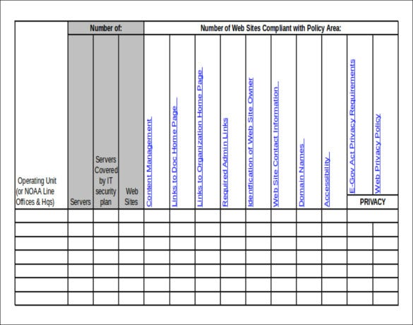 Server Inventory Template Excel