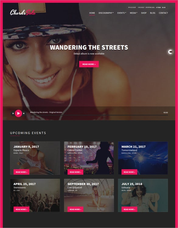 music artist radio station wordpress theme