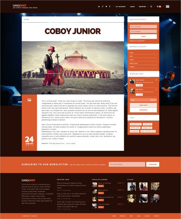 radio station event woocommerce wordpress theme