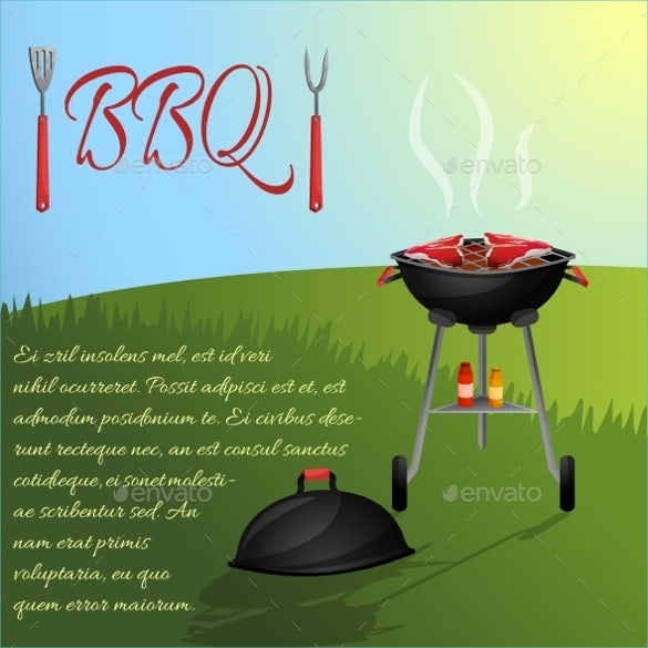 bbq menu poster template download