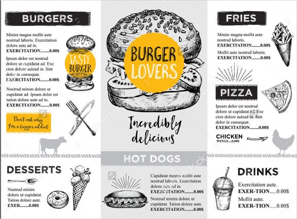 bbq menu design template download