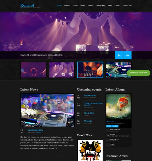 30+ Radio Station WordPress Themes & Templates | Free & Premium ...