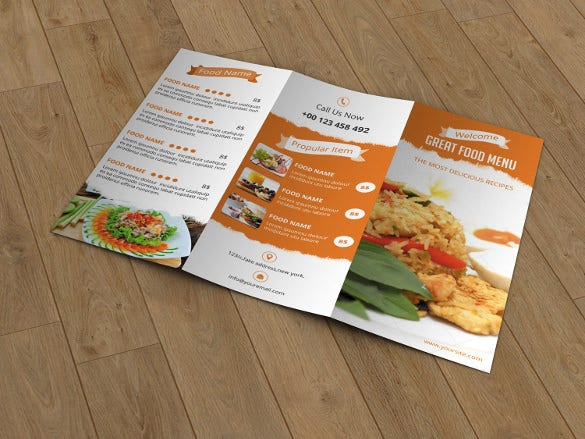 Restaurant menu template 53 free psd ai vector eps for Easy menu templates free