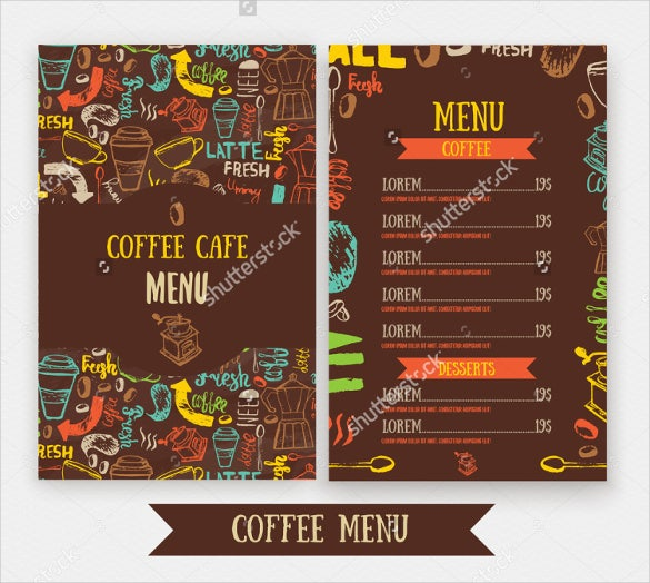 Cafe Menu Template Menu Template For Restaurant And Cafe Menu – Sample Cafe Menu Template