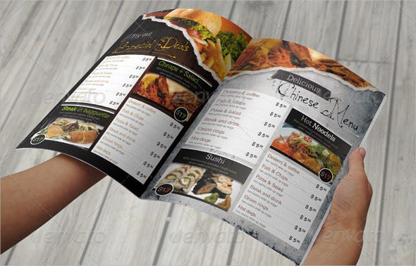 Restaurant Menu Template 45 Free PSD AI Vector EPS – Free Food Menu Template