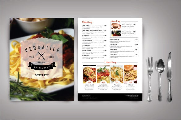 Restaurant Menu Template - 45+ Free Psd, Ai, Vector Eps
