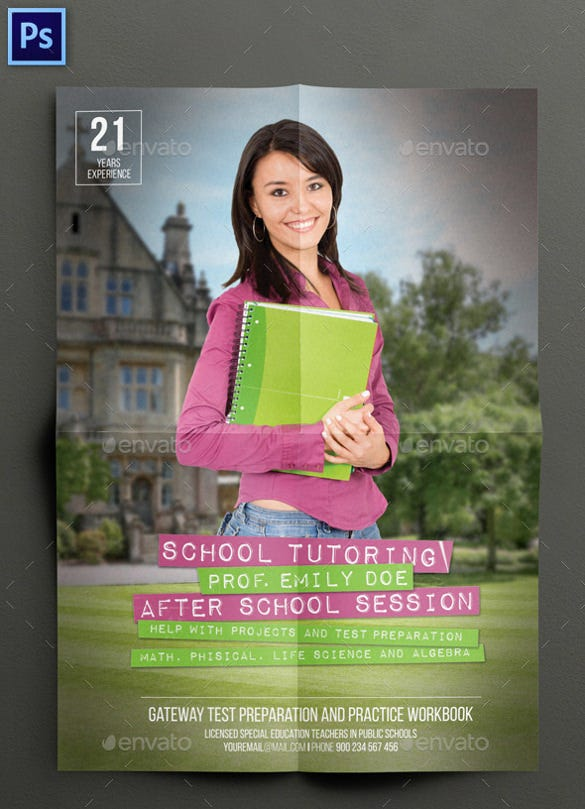 Tutoring flyer template 22 free psd ai vector eps format school tutoring flyer template saigontimesfo