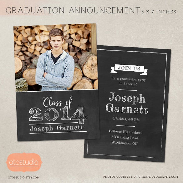 senior graduation chalkboard template