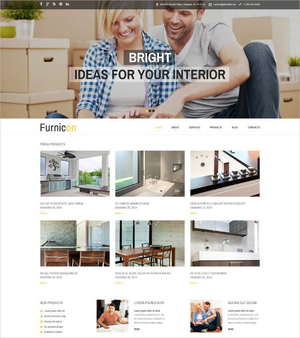 interior design responsive furniture drupal template