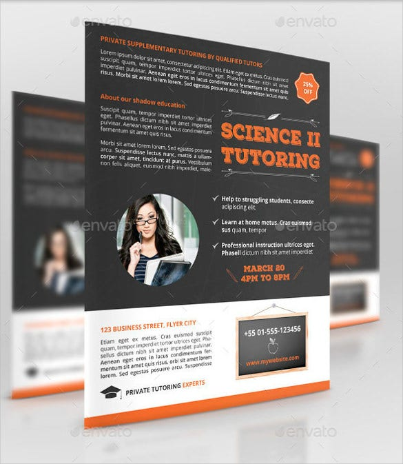 tutoring flyer template  u2013 24  free psd  ai  vector eps