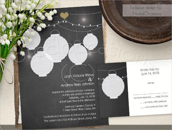 rustic paper chalkboard invitation template
