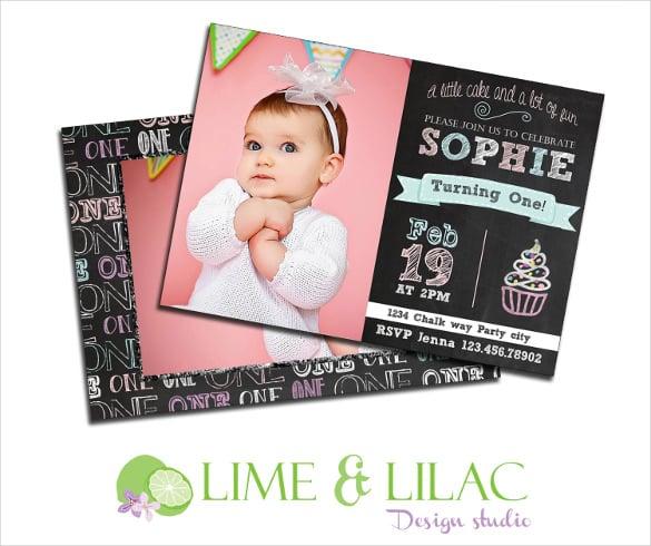 chalkboard birthday template invitation