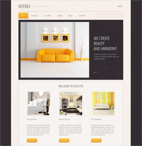 official furniture design drupal template