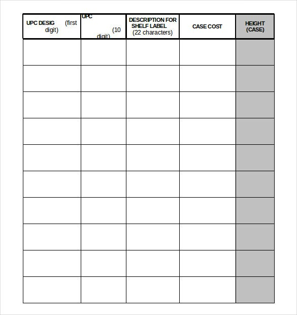 Warehouse Inventory Templates  Free Sample Example Format
