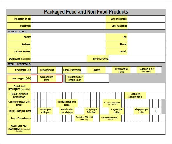packaged food warehouse inventory