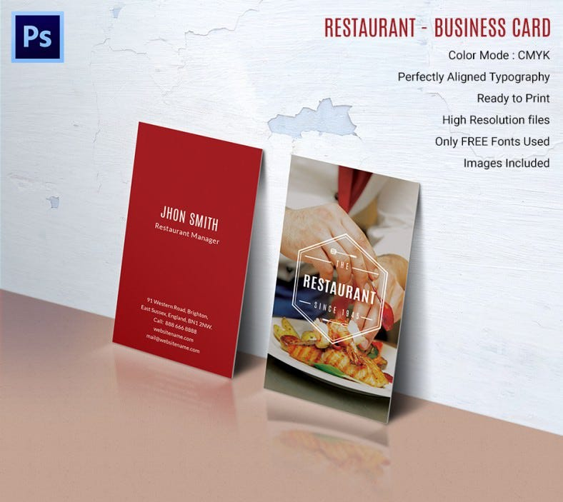 Ideal restaurant business card template free premium templates ideal restaurant business card template restaurantbusinesscard flashek