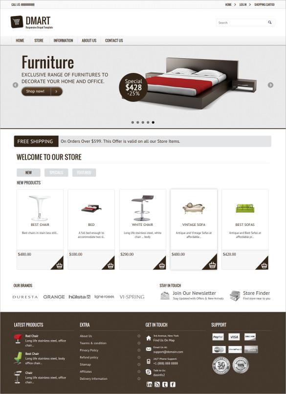 responsive furniture drupal commerce theme