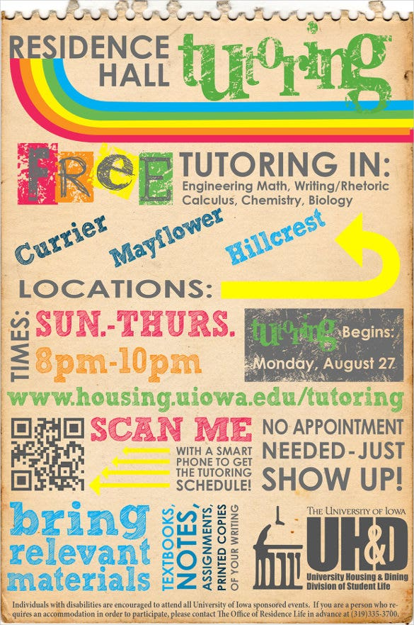 editable tutoring flyer template