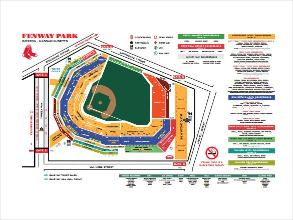 fenway park sample seating chart template free download