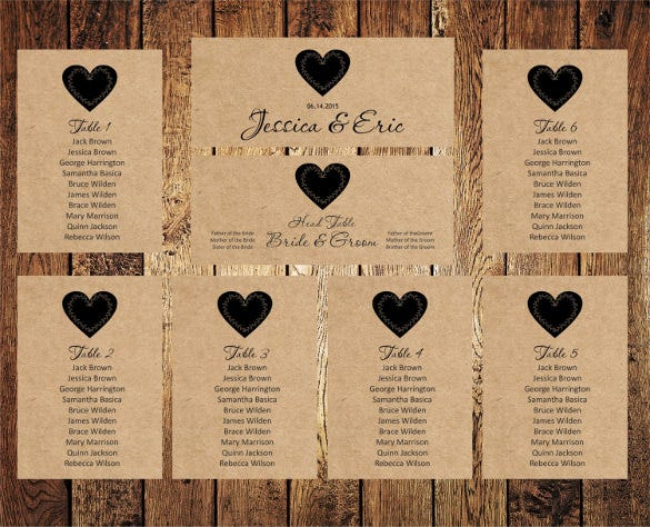 Seating Chart Template – Free Seating Chart Template for Wedding Reception