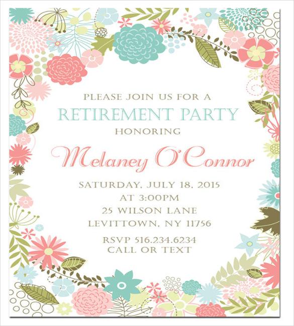 retirement party invitation template  u2013 36  free psd format