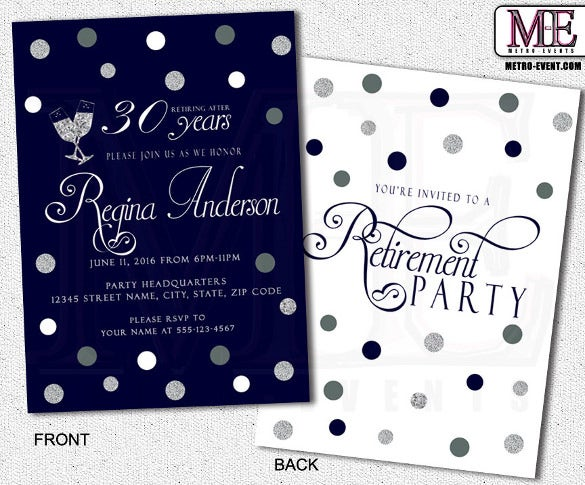 retirement party invitation template - 36+ free psd format, Party invitations