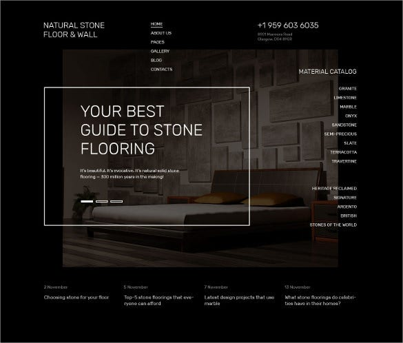 floor furniture joomla blog template