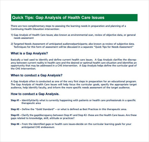 healthcare organization needs assessment gap analysis Needs assessment and identifying a gap needs assessment healthcare needs assessment and identifying a gap gap analysis worksheet 6.