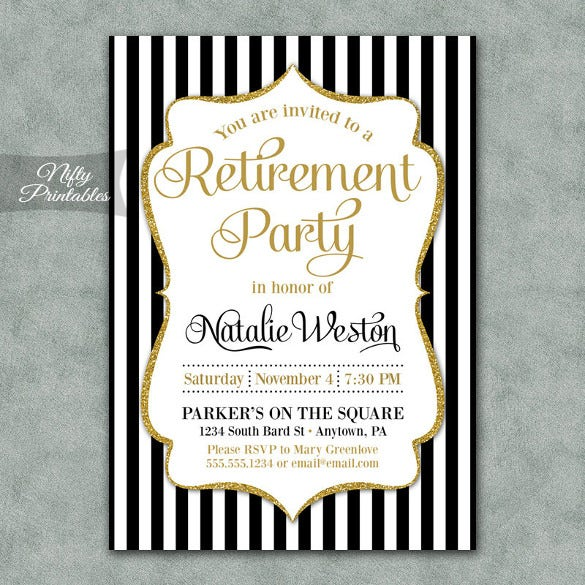 retirement party invitation template  u2013 36  free psd format download