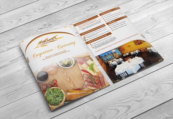 corporate catering menu design template download