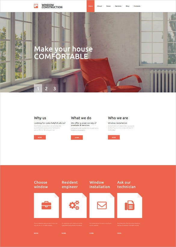 responsive furniture moto cms 3 blog template